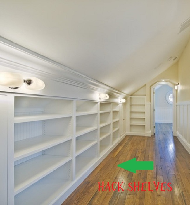 slanted ceiling storage ideas - High Cotton Style October 2012