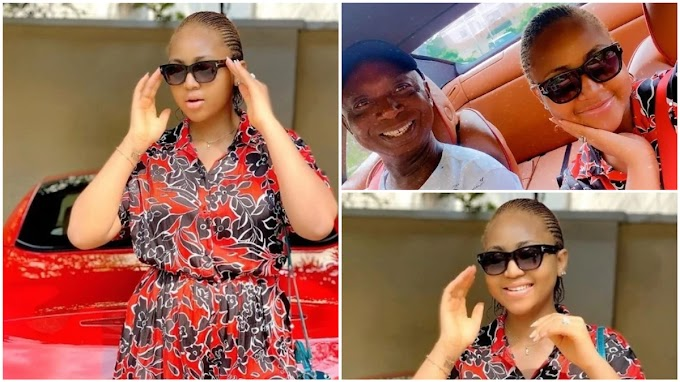 Regina Daniels Looking All Dapper With Her Rich Husband Nwoko, Weeks After Childbirth (Photos)