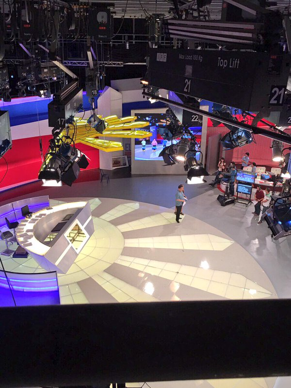 Set-up for GMA's #Eleksyon2016 coverage.