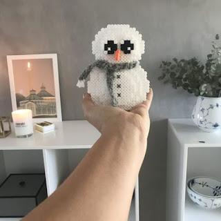 hama boncuğu kardan adam