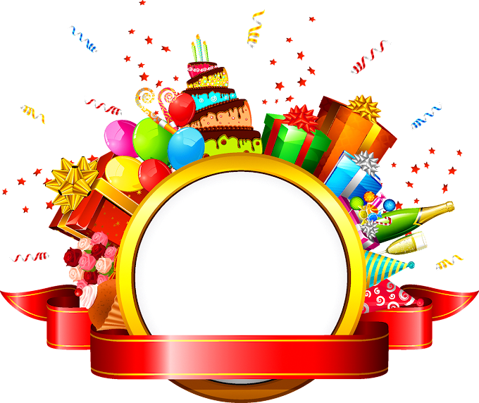 Balloons, cakes and gifts template,, birthday present, ribbon, ring, text png free png