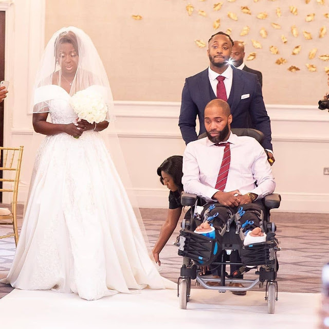 Bride insists her sick brother walks her down the aisle on her wedding day