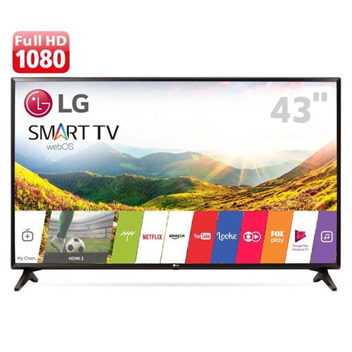 "Comprar Smart TV LED 43"" Full HD LG 43LJ5550 com Painel IPS, Wi-Fi, WebOS 3.5, Time Machine Ready, Magic Zoom, Quick Access, HDMI e USB"