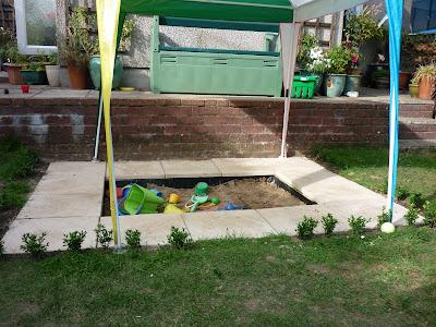 Childrens garden sandpit Green Fingered Blog