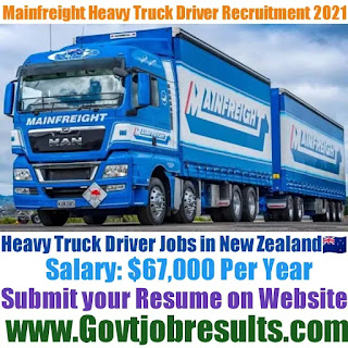 Mainfreight Heavy Truck Driver Recruitment 2021-22
