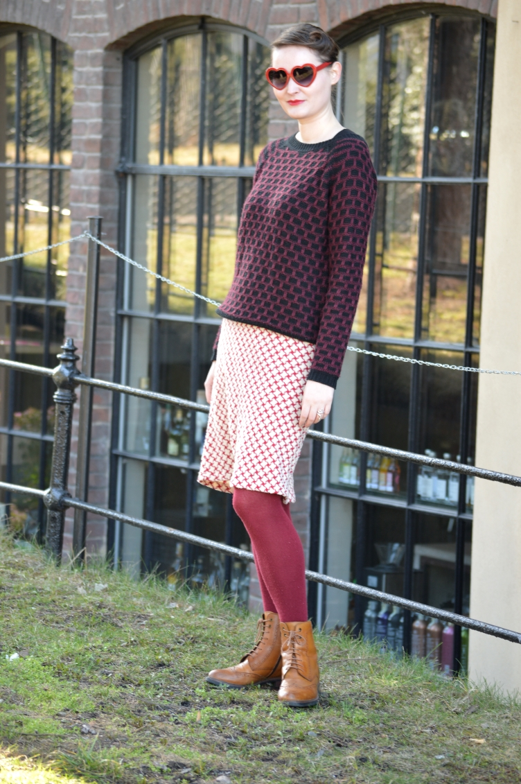 ootd, czech fashion, blogger, georgiana quaint, mix patterns, vintage, secondhand clothes