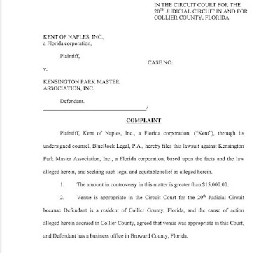 Kent Security Naples laughably sues former client.