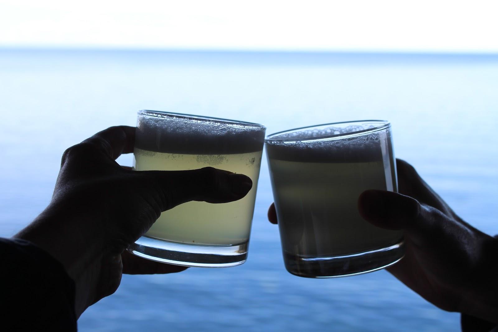 Pisco sours at Amantica Lodge, Lake Titicaca, Peru - South America travel blog