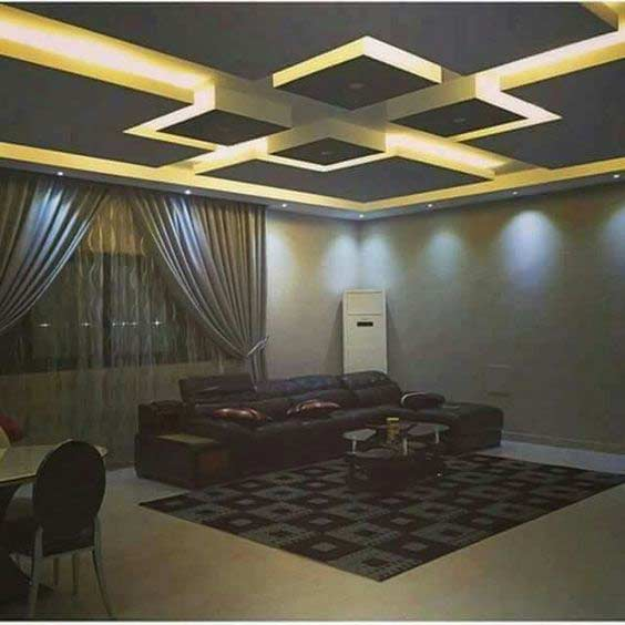 Ceiling Designs For Living Room 2018 Carpet Ideas Step By To Make False Design With Lighting 2019 Installation