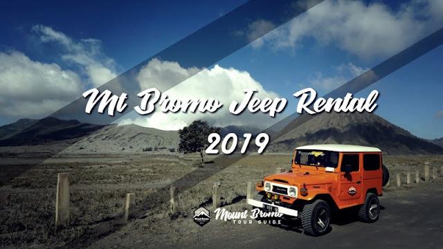 Bromo Jeep Rental 2019