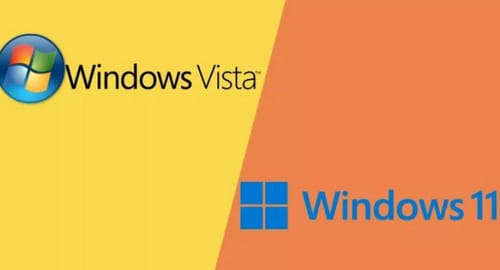 How is the relationship between Windows 11 and Windows Vista?