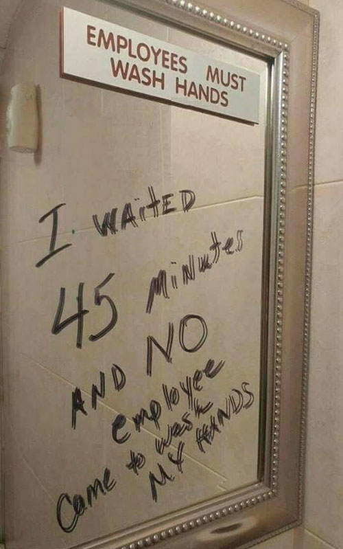 Today S Nutty Joke Employees Must Wash Hands