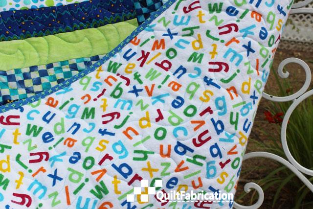 Summer Picnic quilt backing
