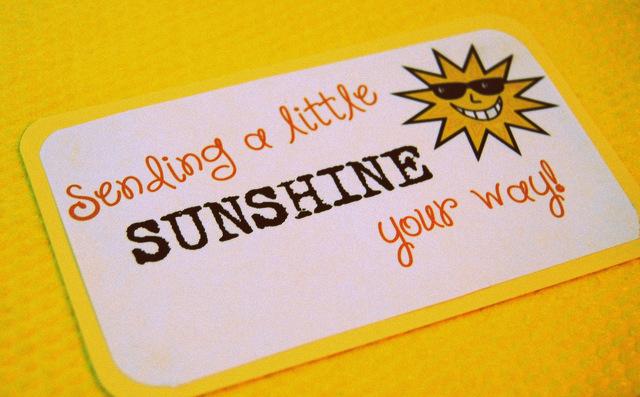 The Pleasures Of My Life!: Sending Sunshine