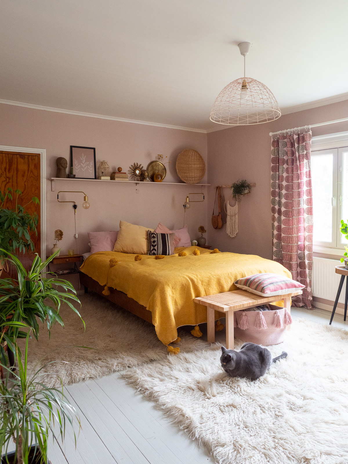 boheemi makuuhuone