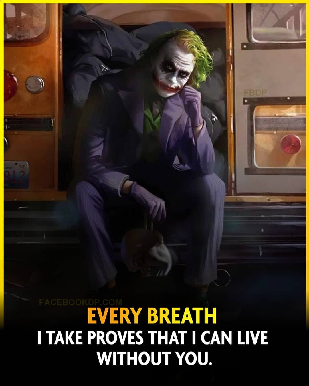 Angry Joker DP with Attitude Quotes for WhatsApp Status