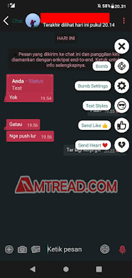 Tampilan chat aero whatsapp
