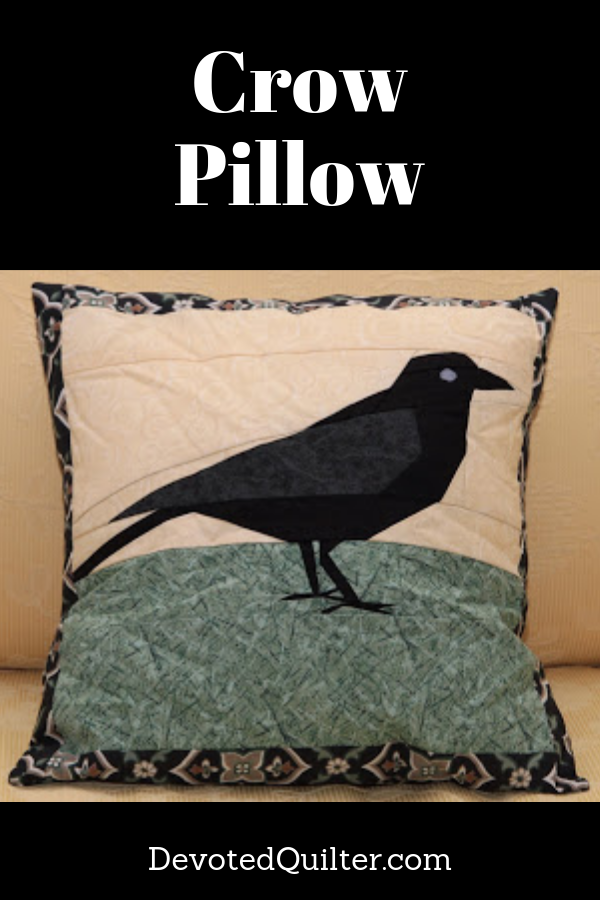 Foundation paper pieced crow pillow | DevotedQuilter.com