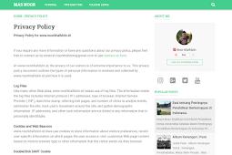 Cara Membuat Halaman Privacy Policy Sederhana untuk Adsene di Blogger