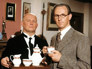 Peter Davison (right) played Campion in the BBC TV series, with Brian Glover (left) as Lugg