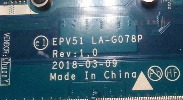 LA-G078P Rev 1.0 EPV51 HP 15-DB0337UR Bios