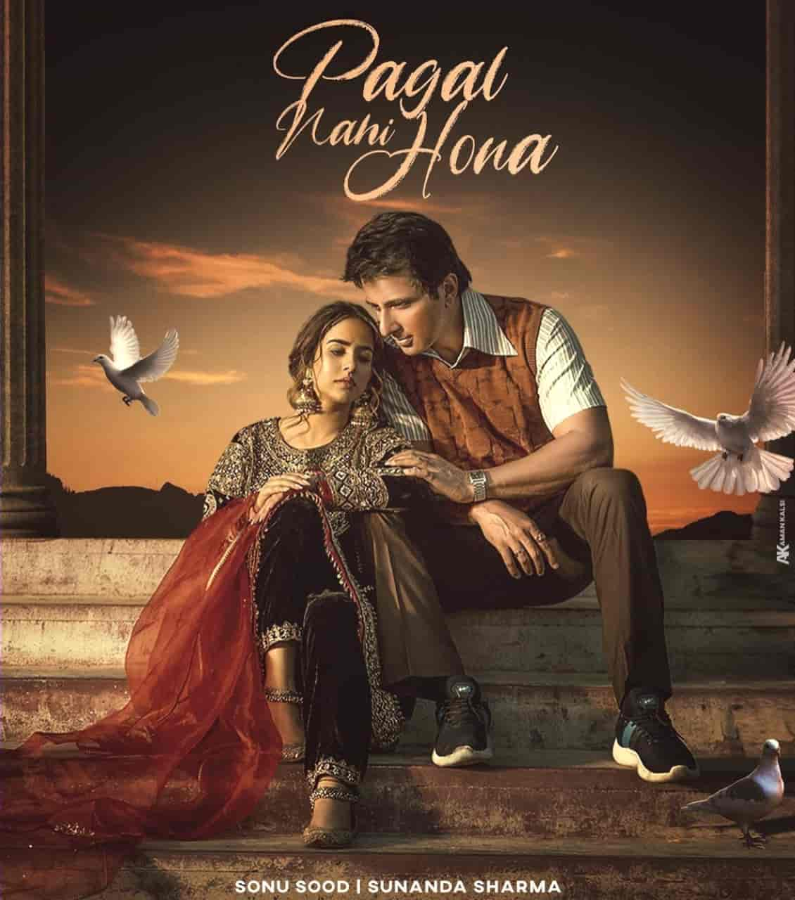 Pagal Nahi Hona Punjabi Song Image Features Sunanda Sharma And Sonu Sood