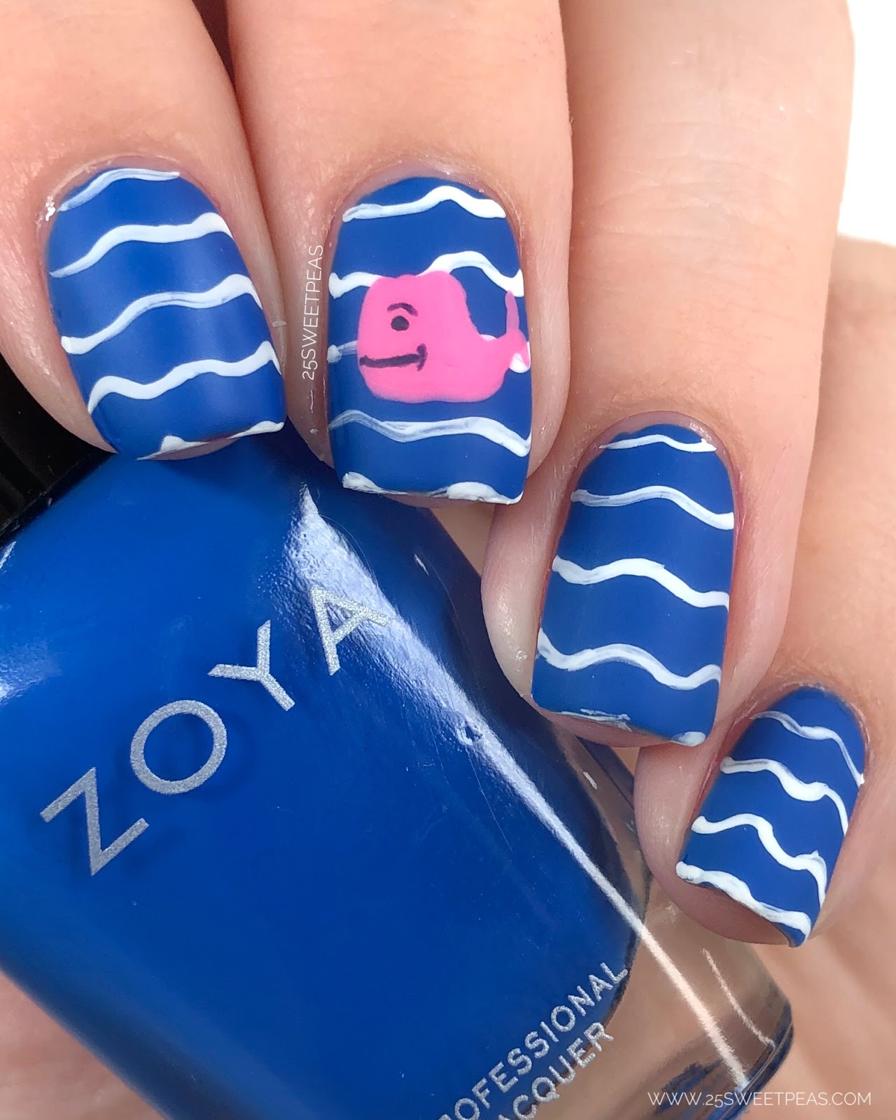 Vineyard Vines Inspired Nail Art