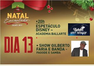 Sexta e sábado tem mais atrações do Natal Encantado 2019 em Cajati