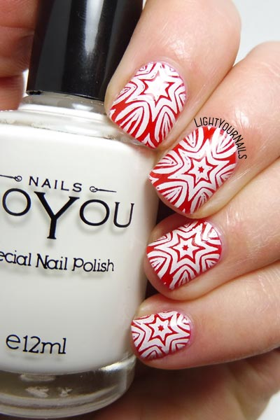Christmas stars #stamping #nailart #unghie #lightyournails