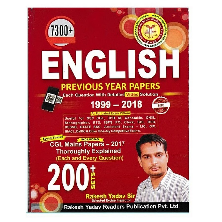 Rakesh Yadav SSC English ( 1999 - 2018 ) 7300+ Objective