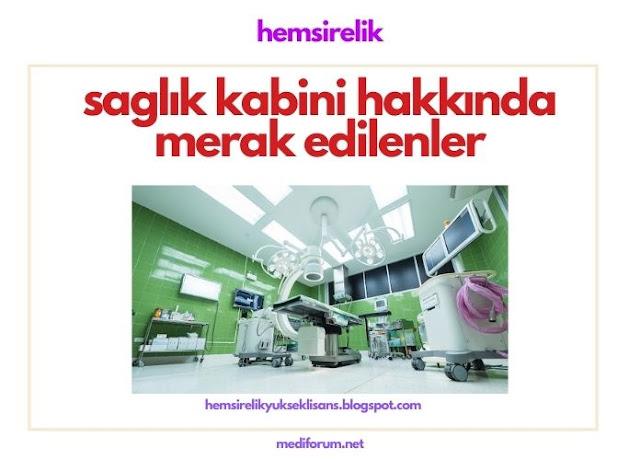 sağlık kabini