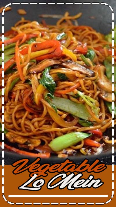 This vegetable lo mein is a really simple, versatile and healthy noodle dish. Vegetable lo mein can be a staple vegetarian meal or a meatless Monday dinner!