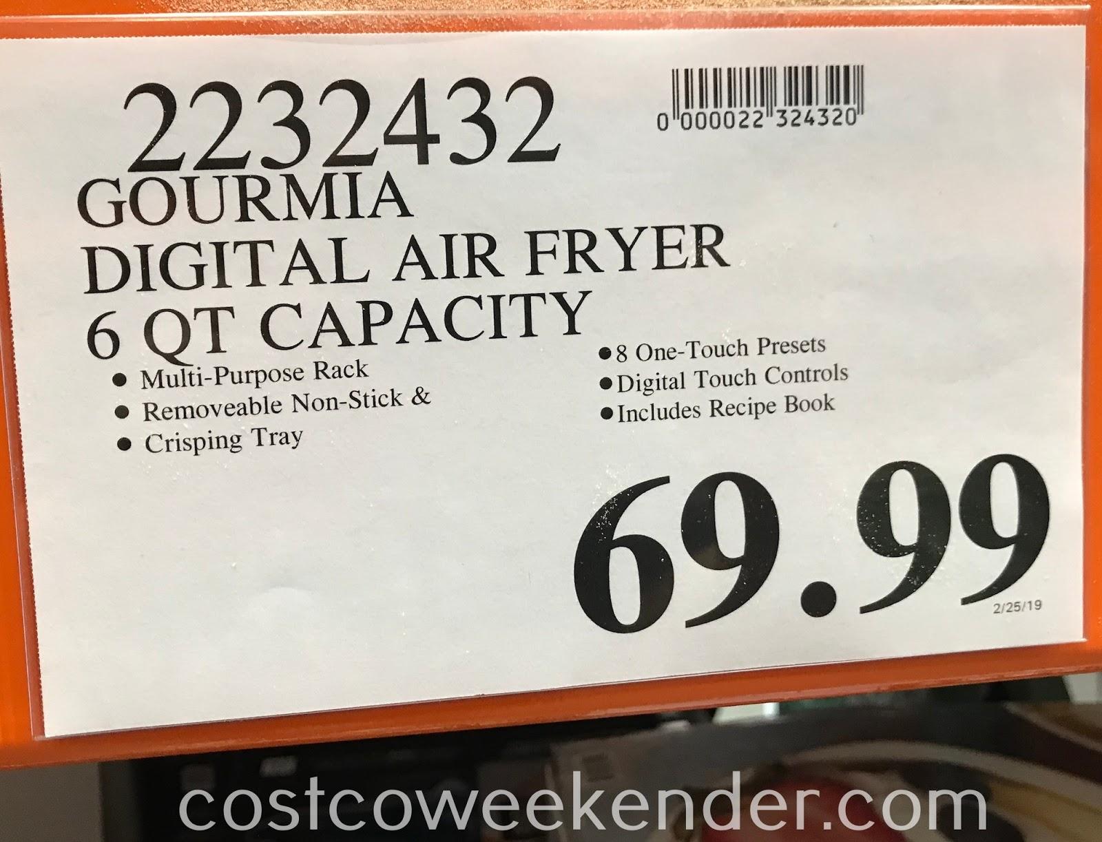 Deal for the Gourmia 6qt Digital Air Fryer at Costco