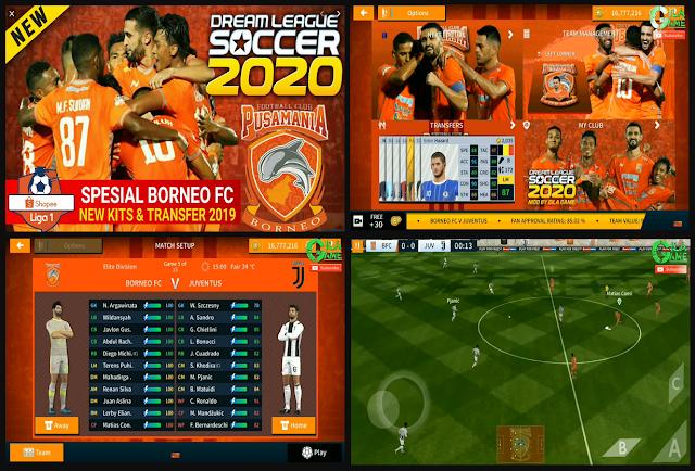 Download DLS 2020 Mod Spesial Borneo FC Shopee Liga 1
