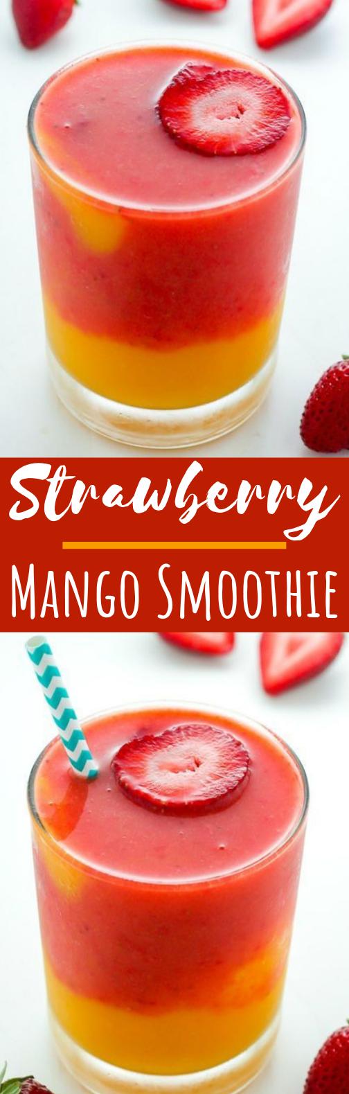 Strawberry Mango Smoothie #drinks #smoothies