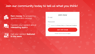 "A desktop screenshot detailing the ""signing up"" portion of the YouGov website"