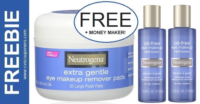 FREE Neutrogena Makeup Remover Pads CVS