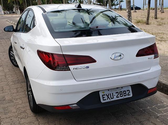Novo Hyundai HB20S (Sedã) 2020 - Branco - Traseira