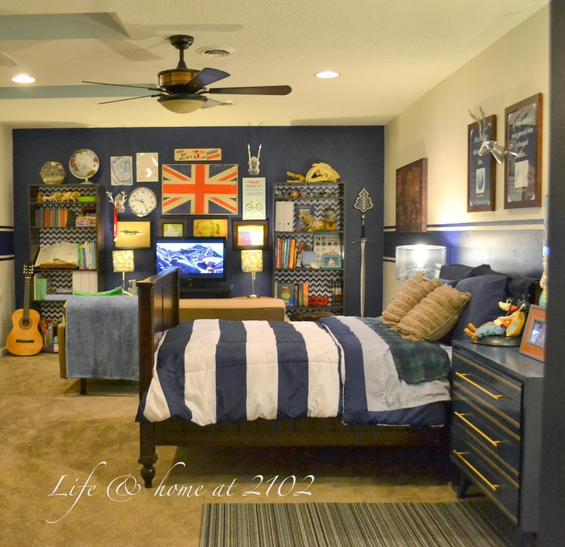 Life & Home At 2102: TWEEN BOY BEDROOM UPDATE REVEAL