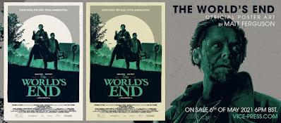 The World's End Movie Poster Screen Print by Matt Ferguson x Bottleneck Gallery x Vice Press