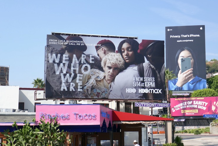 We Are Who We Are series launch billboard
