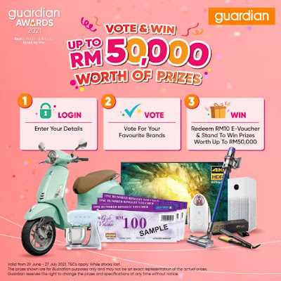 Guardian Awards 2021, Vote for Best Health and Beauty Brands, Vote & Win, Guardian, Guardian Malaysia, Heath, Beauty, Lifestyle