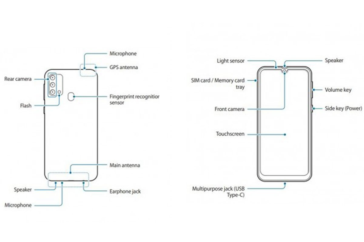 schematic of the Samsung Galaxy F41