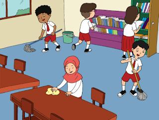 membersihkan ruangan kelas www.simplenews.me