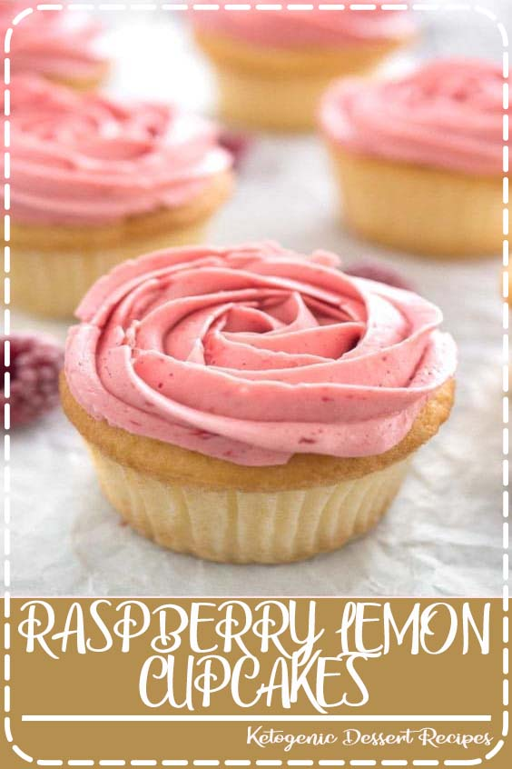 Flavorful and moist Raspberry Lemon Cupcakes filled with lemon curd and topped with an eas RASPBERRY LEMON CUPCAKES