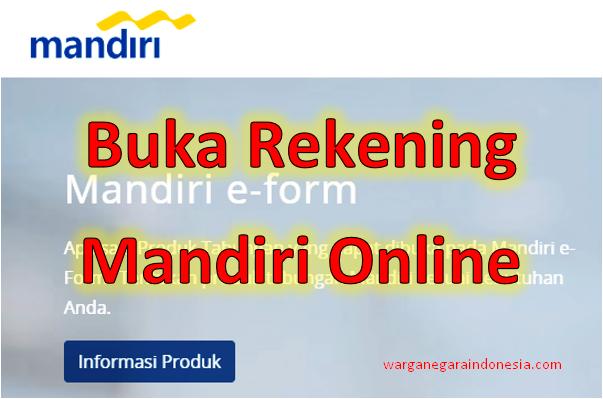 Login Eform Bankmandiri Co Id Buka Rekening Mandiri Online Warga Negara Indonesia