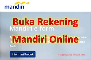 Login eform.bankmandiri.co.id Buka Rekening Mandiri Online