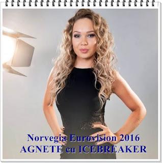 Wiki Norway AGNETE ICEBREAKER Eurovision 2016