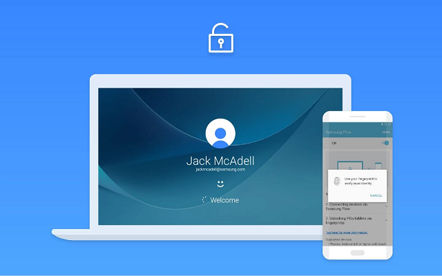 Open the Windows 10 lock using the fingerprint on your Android phone