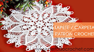 Patrón de Tapete ~ Carpeta para tejer a crochet